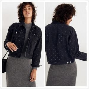 Madewell the Boxy cropped jean jacket